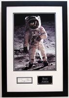 Buzz ALDRIN Signed Autograph FRAMED Apollo 11 Moonwalker Astronaut AFTAL COA A