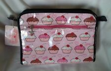 a975d46b3be4 Fluff By Claudette Barjoud CUPCAKES Travel Toiletry Cosmetic Make-up Bag -  NWT