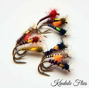 Mixed-Set-of-Lightweight-Buzzers-size-16-Set-of-9-Fly-Fishing-Flies