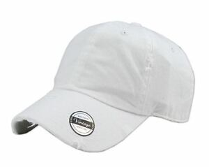 22399d6b Details about Solid Vintage Washed Distressed Cotton Dad Hat Baseball Cap  Polo Style (White)