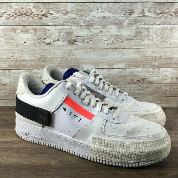 Men's Nike Air Force 1 Af1 Type N.354 Summit White Shoes Ci0054 100 Size 10