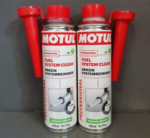 2x-MOTUL-combustible-Sistema-Limpiar-Gasolina-Limpiadores-del-de-300ml