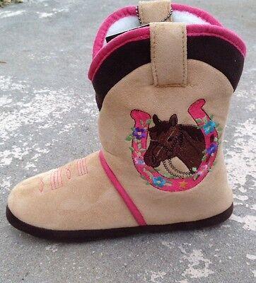 CicciaBella Womens Gecko//Lizard Cowgirl Slipper Boots Fleece Lined REG $43