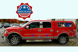 2009-2014-Ford-F-150-Crew-Cab-4Pc-Stainless-Steel-Body-Side-Molding-1-5-034-Trim