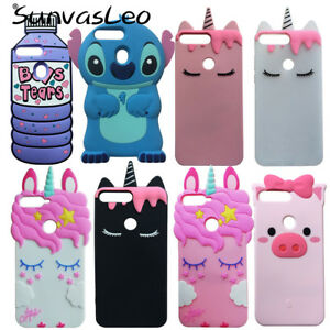 Details about For Huawei Y7 Prime 2018 3D Soft Silicone Case Cartoon  Unicorn Phone Cover Shell