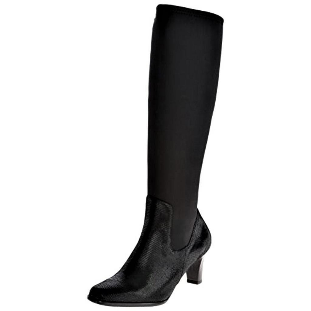 TROTTERS 9 JAXSON Black LEATHER BOOTS Shoes SZ 6 M NIB NWT
