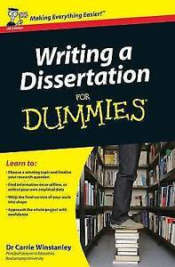 Writing a dissertation for dummies good
