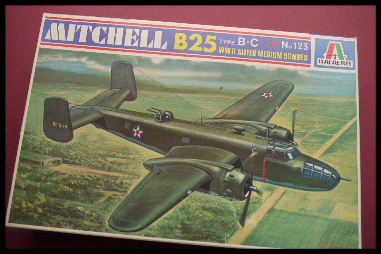 Italeri Italaerei 1 72 WWII Medium Bomber North American B-25 Mitchell Model Kit