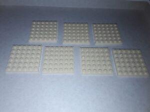 Lot-Lego-7-plaques-beiges-claires-6x6