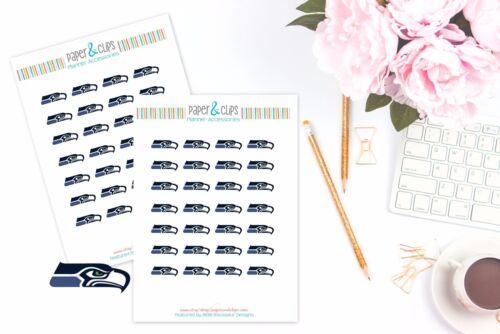 Perfect for all Planners like Erin Condren Seattle Seahawks Planner Stickers