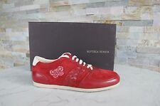 luxus Bottega Veneta Gr 37 Damen Halbschuhe Sneakers Schuhe rot NEU UVP 450 €