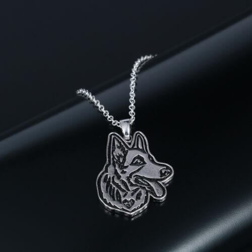 German Shepherd Pendant Necklaces Great Animal Jewelry for Men Dog Lovers Gift