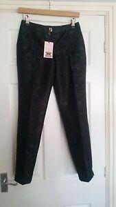 d02eafeb6044 Ladies Ted Baker London trousers BNWT size 0 black floral print