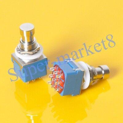 6pcs Guitar Effect Pedal 3PDT 9pin Push Button Foot Metal Switch True Bypass