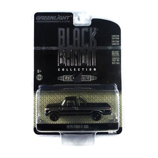 Greenlight 27990-D Ford F-100 Negro 1975 - Negro Bandido Escala 1:64 Nuevo !°