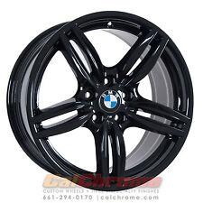 """Set of 4 Black 19"""" BMW 528i 535i 550i M5 640i 650i OEM Wheels Rims 71414 71418"""