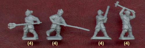 KOREAN GUERRILLAS XVI-XVII CENTURY A.D 48 FIGURES  1//72 RED BOX 72013