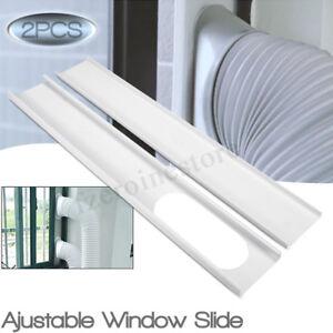 2PCS Finestra Slide Kit Piastra Regolabile Rigido PVC Per Condizionatore D'Aria