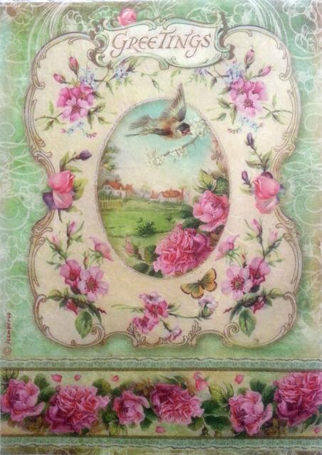 Rice Decoupage Paper / Decoupage Sheets  / Scrapbooking / Stamperia / Garden