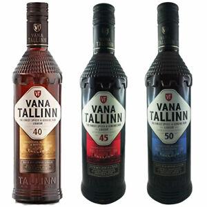 Vana Tallinn Rum Likör 3er Set 40% & 45% & 50% Vol. Estland Spirituose