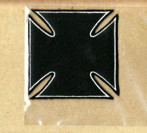 Iron-Cross-Patch-Embroidered-Iron-On-Black-Collector-039-s-Licensed-New