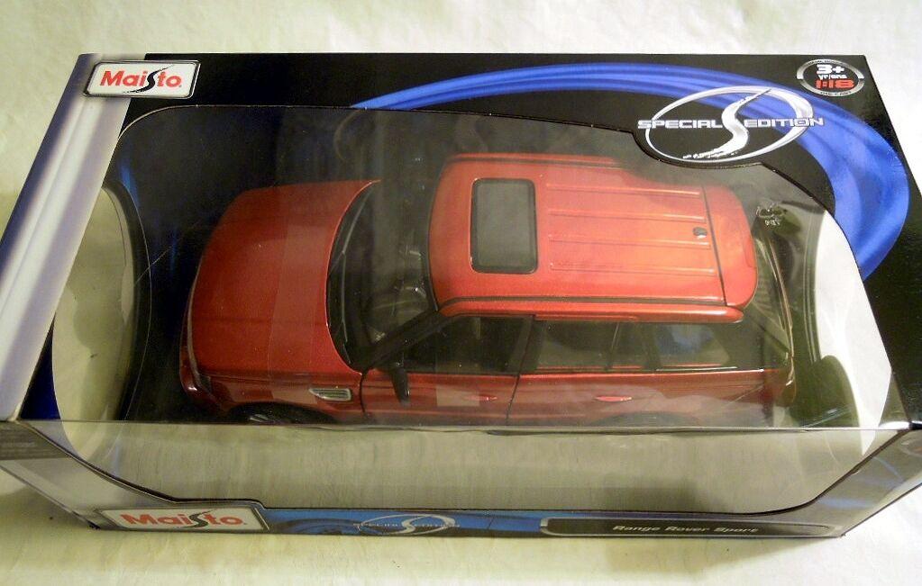Maisto 31135  Range Rover Sport, terminé modèle, modele en 1 18, NOUVEAU & NEUF dans sa boîte