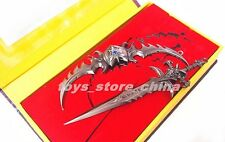 WOW illidan Stormrage Warglaive of Azzinoth Lich King Frostmourne Metal Toy New