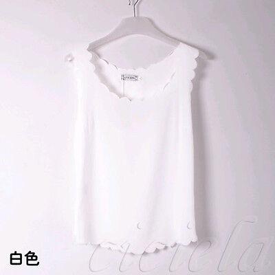 2015 Korean Fashion Womens Slim Chiffon Tops Sleeveless Shirt Casual Blouse Vest