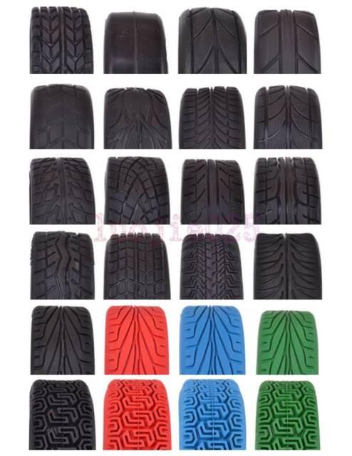 4PCS RC 1/10 On Road Car Soft Rubber Tyre Tires Fit HSP HPI Redcat Flat Racing