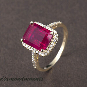 Vintage-Solid-14k-Yellow-Gold-Blood-Ruby-Natural-Diamond-Wedding-Ring-Jewelry