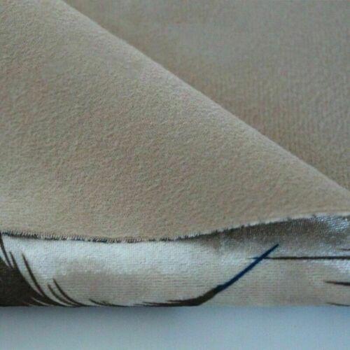 Velvet Fabric Phoenix Peacock Feather Pattern Thick Sofa Cushion Home Decor