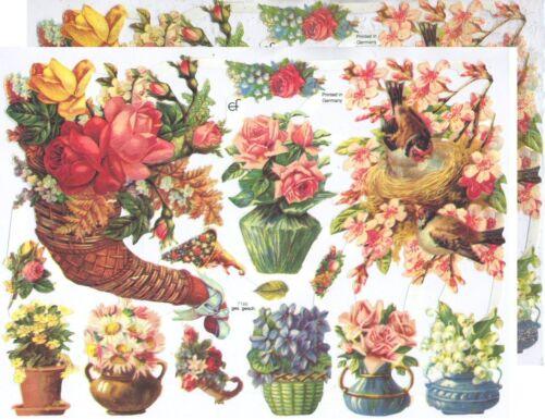Chromo EF Découpis Bouquet de fleurs Nid 7186 Decoupage Collage Carterie