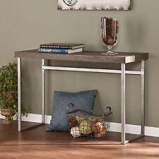 JST34504 SILVER / BURNT OAK  CONSOLE TABLE