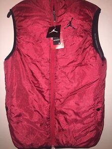 a166894280b8 Boys Air Jordan Puffer Vest Reversible Jacket red black Jumpan XL 13 ...