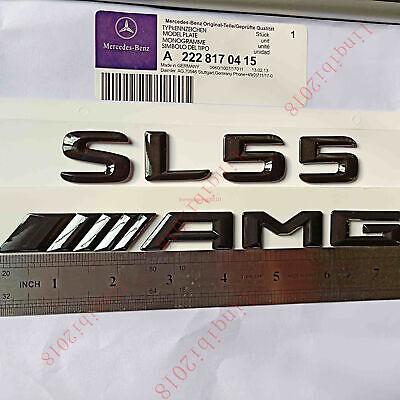 "AMG /"" Letters Trunk Embl Badge Sticker for Mercedes Benz 2018 Gloss Black /""SL55"