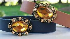 """Buy 2 get 1 FREE /""""Topaz/"""" Fitbit bling charm Flex Alta Charge HR"""