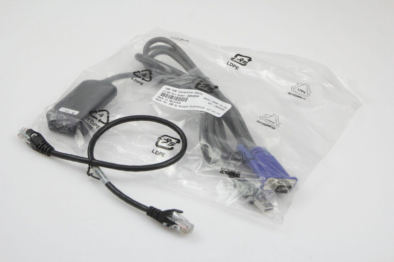 Genuine IBM USB 250mm KVM Switch RCM Conversion Cable Module SIP 39M2899 39M2909