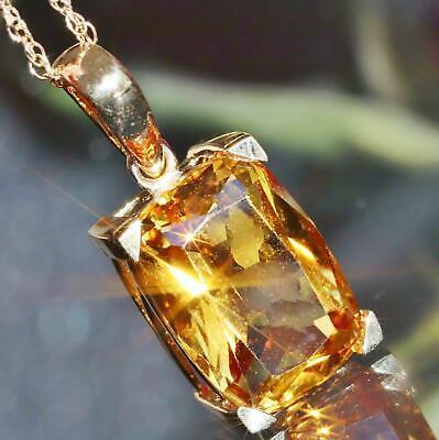 Imperial topaz crystal handmade pendant charm