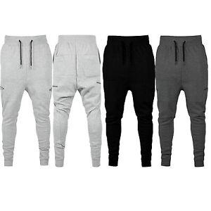 Para-hombres-Pantalones-Chandal-Pique-Calce-Ajustado-Pantalones-De-Chandal-Gimnasio-Jogging