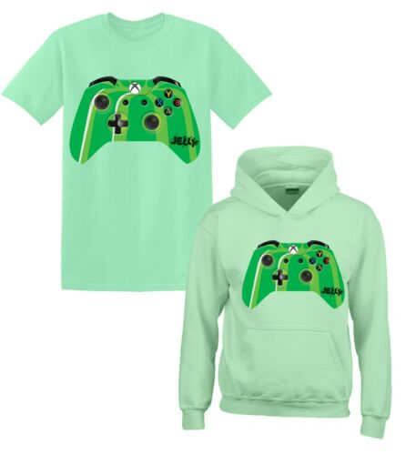 Crazy Jelly Merch Youtuber Gamer Xbox Controller Gift Kids T-Shirt Hoody