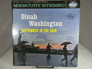 DINAH WASHINGTON September In The Rain1961 Mercury SR-60638 STEREO LP VG