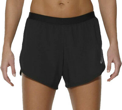Asics 2 In 1 Womens Running Shorts - Black