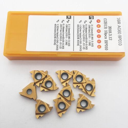 10pcs 16IR AG60 BP010 carbide insert threading turning alloy cutting tool insert
