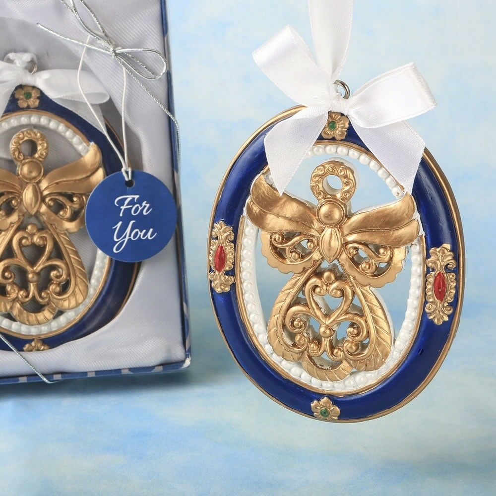 15 Gold Guardian Angel Ornament Religious Christening Baptism Shower Party Favor