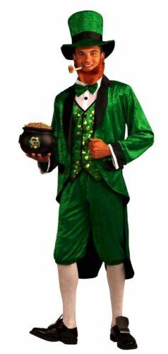 Adult Mr Leprechaun Costume St Patrick Irish Jacket with Tails Knickers Top Hat