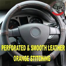 FIAT PUNTO QUBO SEICENTO Grande Volante Cover in Pelle P&S cuciture color arancio