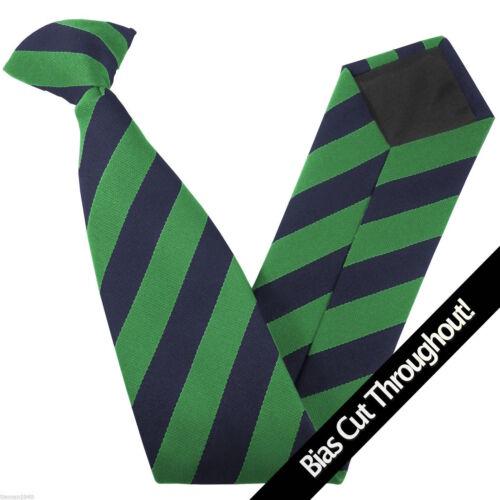 Junior School Children/'s Clip On Tie Equal Stripes Block Stripe READ THE LISTING