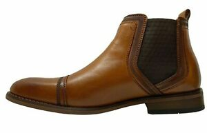 La-Milano-Slip-On-Leather-Cap-Toe-Chelsea-Cognac-Boots-B51934