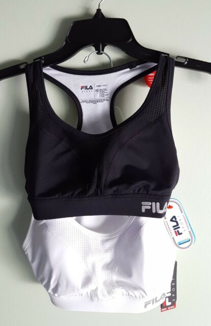 e62386f6ad5a9 NEW Fila Sport Women s XS High Impact Sport Bra WHITE or BLACK Running   284817