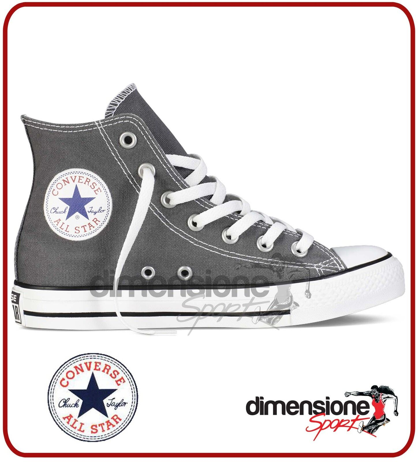 CONVERSE ALL STAR ALTE grigio TG. 37 US 4,5 grigio ALTE 1J793 SEASONAL CANVAS CHARCOAL SHOES dbd5d0
